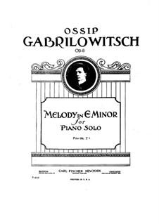 Мелодия ми минор, Op.8: Для одного исполнителя by Осип Габрилович