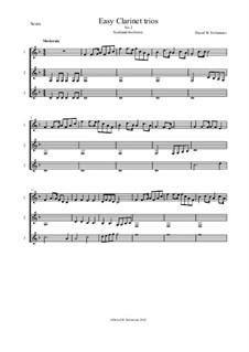 Fifteen easy clarinet trios: No.2 Scotland the brave by folklore, Дэвид Соломонс
