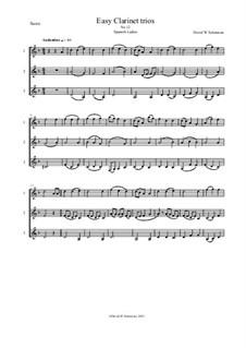 Fifteen easy clarinet trios: No.12 Spanish Ladies by folklore, Дэвид Соломонс