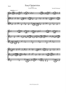 Fifteen easy clarinet trios: No.15 The Skye boat song by folklore, Дэвид Соломонс
