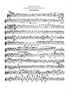 Карнавал, B.169 Op.92: Партии кларнетов by Антонин Дворжак