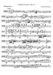Отелло, B.174 Op.93: Партия виолончели by Антонин Дворжак