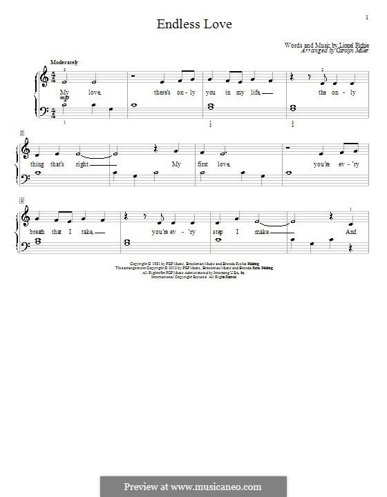 Endless Love: Для фортепиано by Lionel Richie