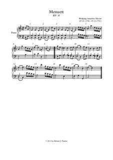 Менуэт для фортепиано до мажор, K.1f: Менуэт для фортепиано до мажор by Вольфганг Амадей Моцарт