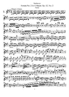 Три сонаты для скрипки и фортепиано, Op.12: Соната No.2 – сольная партия by Людвиг ван Бетховен