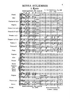 Missa Solemnis, Op.123: Kyrie by Людвиг ван Бетховен