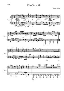 Piano Opus No.1: Часть I by Robert Linson