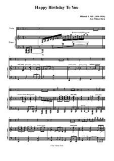 С днем рождения тебя: Для альта и фортепиано by Милдред  Хилл