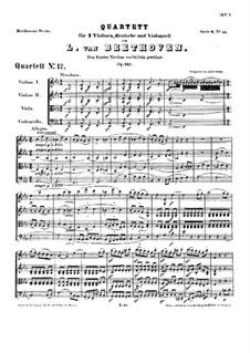 Струнный квартет No.12 ми-бемоль мажор, Op.127: Партитура by Людвиг ван Бетховен