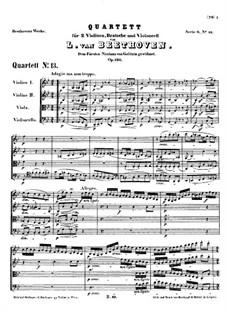 Струнный квартет No.13 си-бемоль мажор, Op.130: Партитура by Людвиг ван Бетховен