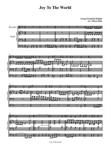 Радуйся мир: Для блокфлейты и органа by Георг Фридрих Гендель