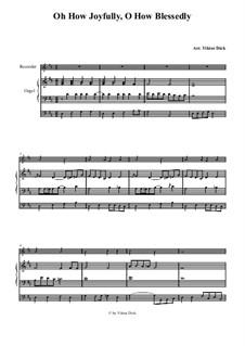 Полный радости: Для блокфлейты и органа by folklore