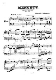 Менуэт: Для одного исполнителя by Луиджи Боккерини
