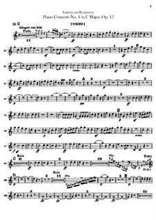 Концерт для фортепиано с оркестром No.1, Op.15: Партии первой и второй валторны by Людвиг ван Бетховен