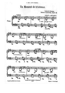 Contes de Jeunesse, Op.46: No.4 Un moment de tristesse by Теодор Лешетицкий