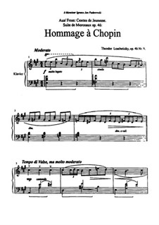 Contes de Jeunesse, Op.46: No.9 Hommage à Chopin by Теодор Лешетицкий