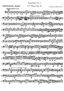 Вся симфония: Партия виолончели и контрабаса by Людвиг ван Бетховен