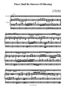 Благословений потоки: Для блокфлейты и органа by Джеймс  Макгранан