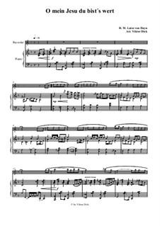 O mein Jesu du bist's wert: Для блокфлейты и фортепиано by Henriette Maria Luise von Hayn