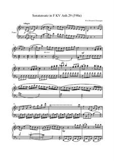 Sonata in F Major (reconstruction): Соната фа мажор (reconstruction) by Вольфганг Амадей Моцарт, Григорий Дерюгин