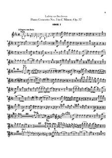 Концерт для фортепиано с оркестром No.3, Op.37: Партии первого и второго гобоев by Людвиг ван Бетховен