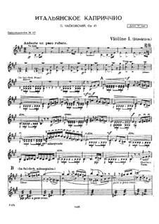 Итальянское каприччио, TH 47 Op.45: Партии by Петр Чайковский