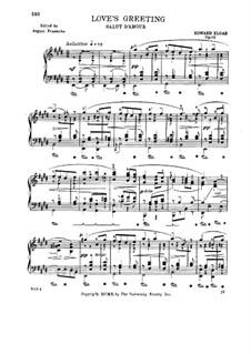Любовное приветствие, Op.12: Для фортепиано (с аппликатурой) by Эдуард Элгар