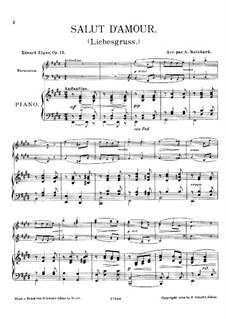 Любовное приветствие, Op.12: Для фортепиано и фисгармонии by Эдуард Элгар