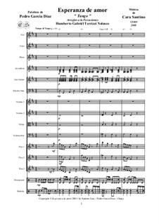 Esperanza de amor - Tango - For voice and orchestra, CS509: Esperanza de amor - Tango - For voice and orchestra by Santino Cara