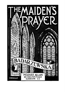 Молитва девы: Для фортепиано by Тэкля Бондажевска-Барановска