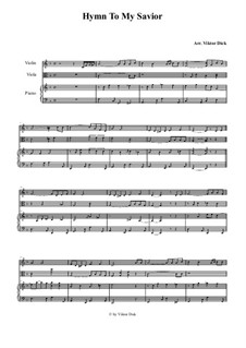 О Тебе пою Спаситель: Для скрипки, альта и фортепиано by folklore