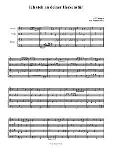 У двери я твоей стою, и в сердце грешное стучу: Для скрипки, альта и фортепиано by folklore