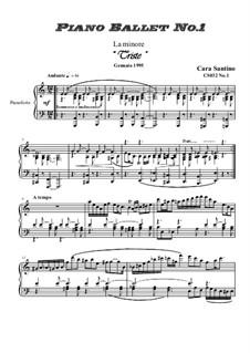 Piano ballet No.1 in A minor for piano, CS032 No.1: Piano ballet No.1 in A minor for piano by Santino Cara