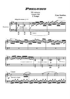 Prelude in E minor for piano - Two time, CS030: Prelude in E minor for piano - Two time by Santino Cara