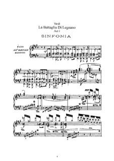 Битва при Леньяно: Аранжировка для солистов, хора и фортепиано by Джузеппе Верди