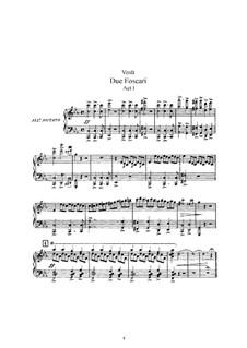 Двое Фоскари: Клавир с вокальной партией by Джузеппе Верди
