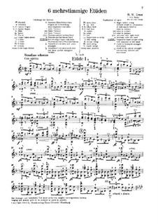 Шесть полифонических этюдов: Для скрипки by Генрих Вильгельм Эрнст