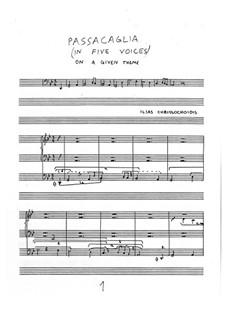 Passacaglia on a given theme: Passacaglia on a given theme by Ilias Chrissochoidis