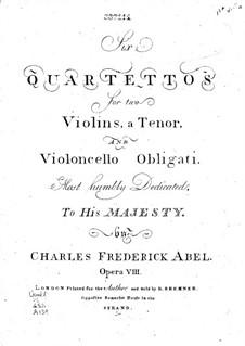 Шесть струнных квартетов, Op.8: Скрипка I by Карл Фридрих Абель