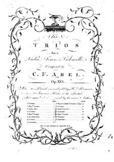 Шесть струнных трио, Op.16: Партия скрипки by Карл Фридрих Абель