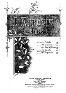 Испанские песни, Op.232: No.4 by Исаак Альбенис