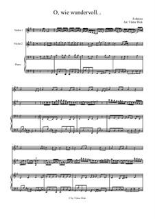 О, как чудно сменён образ жизни моей: Для двух скрипок и фортепиано by folklore