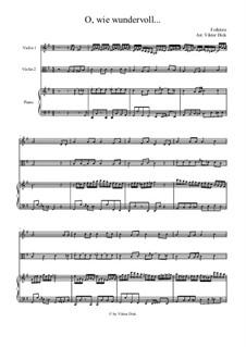 О, как чудно сменён образ жизни моей: Для скрипки, альта и фортепиано by folklore