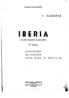 Иберия: Тетрадь I by Исаак Альбенис