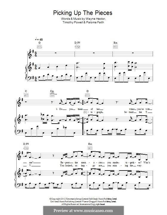 Picking Up the Pieces: Для голоса и фортепиано (или гитары) by Paloma Faith, Tim Powell, Wayne Anthony Hector