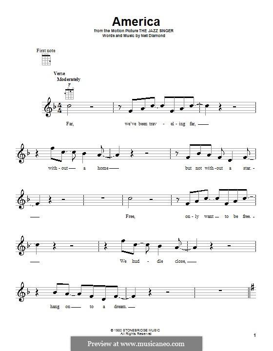 America: Для укулеле by Neil Diamond