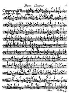 Концерты No.7-12: Партия бассо континуо by Томазо Альбинони