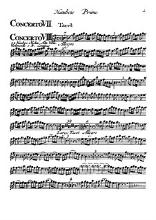 Концерты No.7-12: Партия первого гобоя by Томазо Альбинони