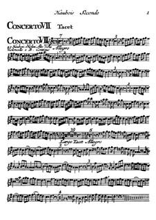 Концерты No.7-12: Партия второго гобоя by Томазо Альбинони