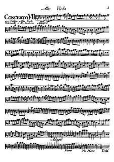Концерты No.7-12: Партия альта by Томазо Альбинони